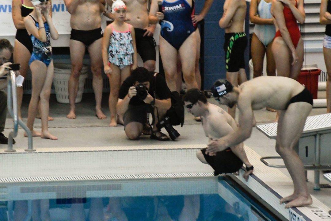 Ryan Held & Veteran Tim Payne Participate In Swim Across America