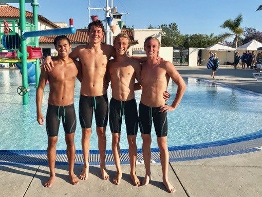 Canyons Aquatic Club Boys Bust 2 NAG 200 Free Relay Records in 1 Swim