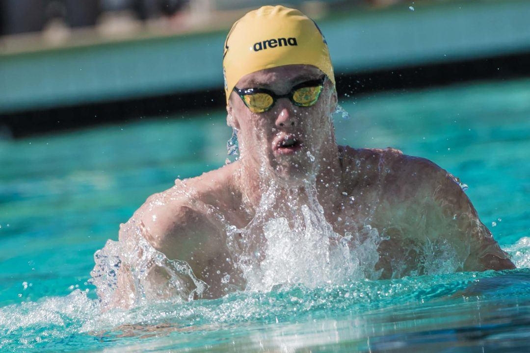 Cal's Karl Arvidsson Hits NCAA 'A' Cut with 1:52 200 Breast in Pac-12 Time Trials