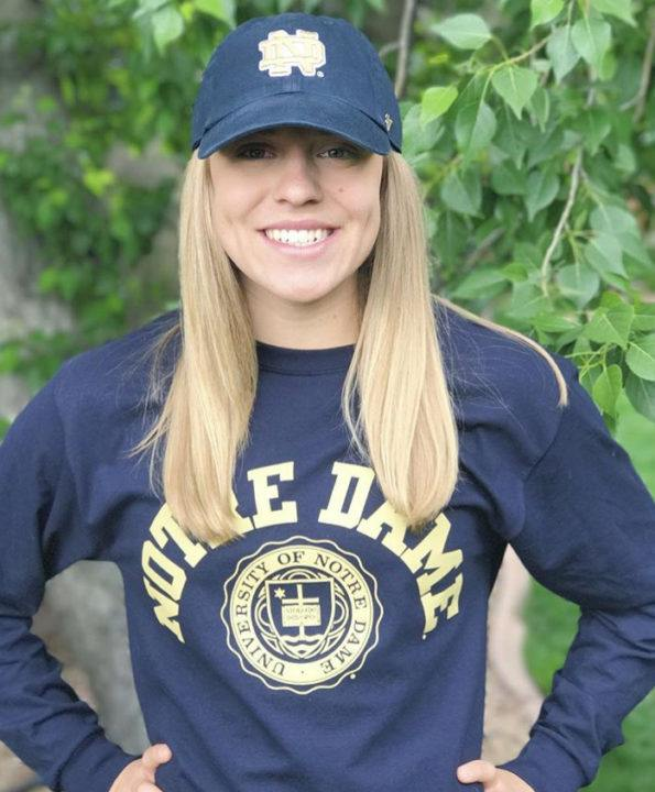 Notre Dame Secures Verbal Commitment from 53/1:54 Backstroker, Bayley Stewart