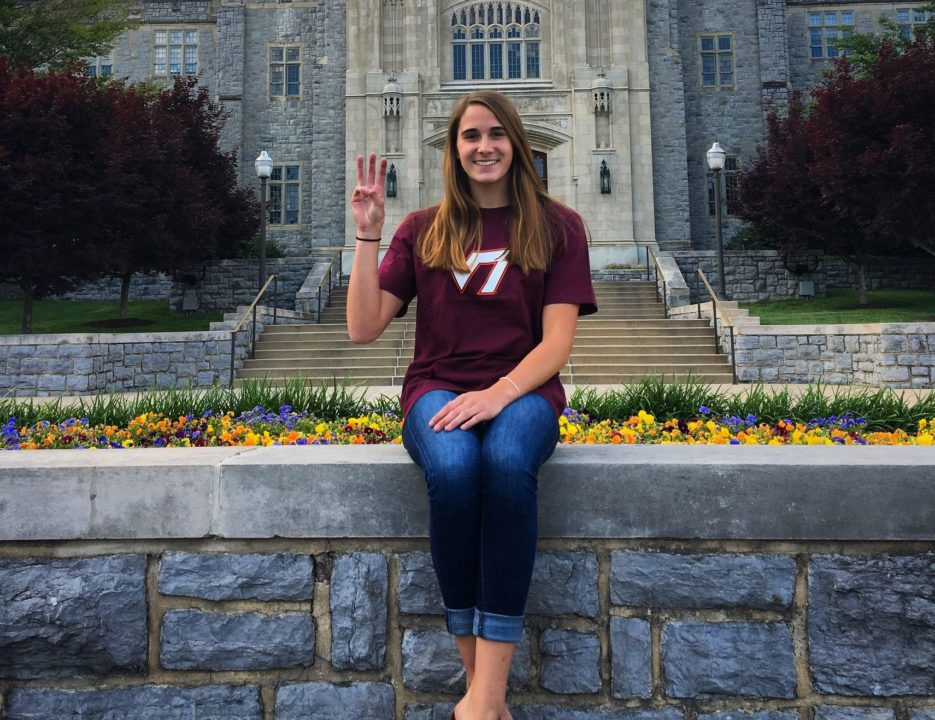 Verbal Commitment from Class of 2018 VA Sprinter Abby Larson is Number 4 for H2Okies