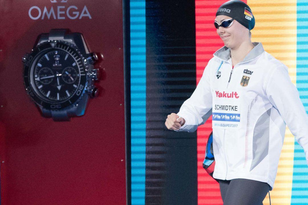 Aliena Schmidtke im Finale über 100 m Schmetterling