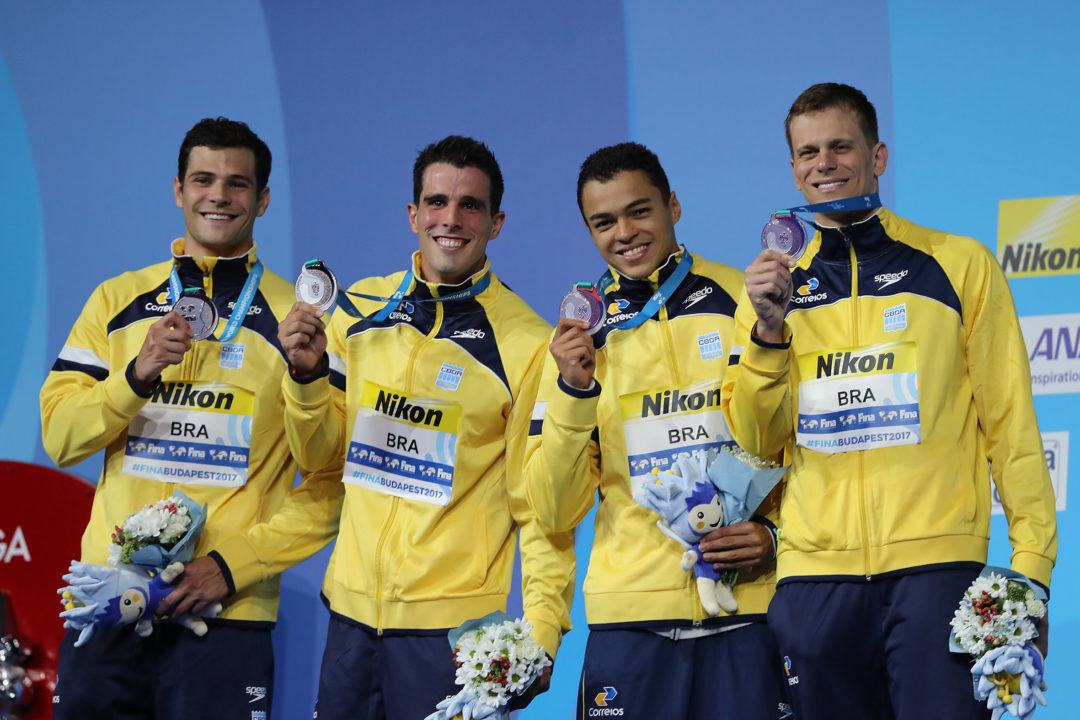 Brazilian 'Old Guys' Finally Get Their Relay Medal
