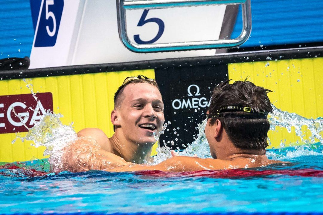 WATCH: Caeleb Dressel Pauses Interview For Start of Race