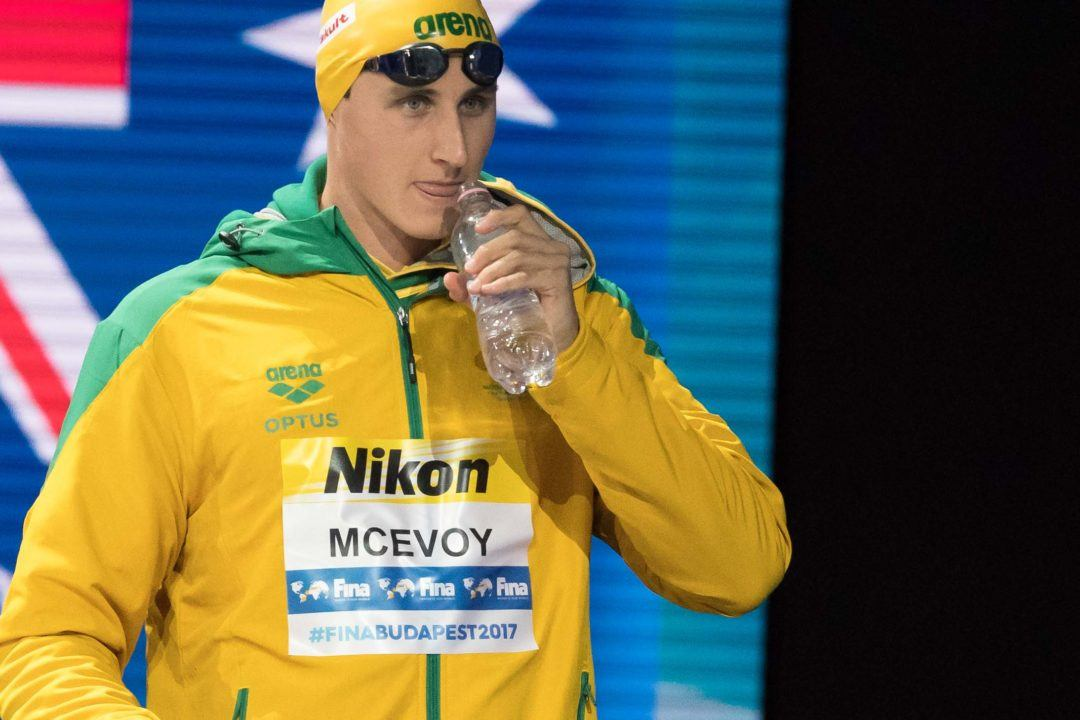 Textile WR Holder Cameron McEvoy Leaves Richard Scarce