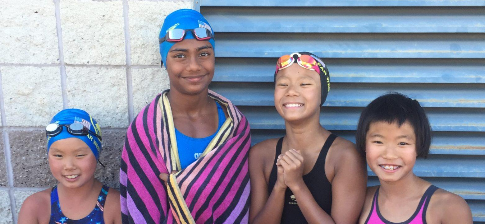 Santa Clara Girls Down 10 & Under NAG in 200 Medley Relay at Far Westerns