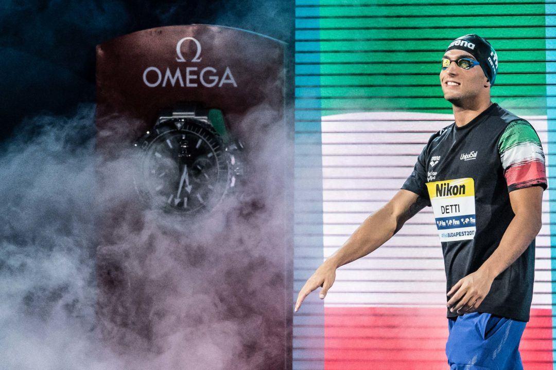 Gabriele Detti Swims First Race in 6 Months in Carpi