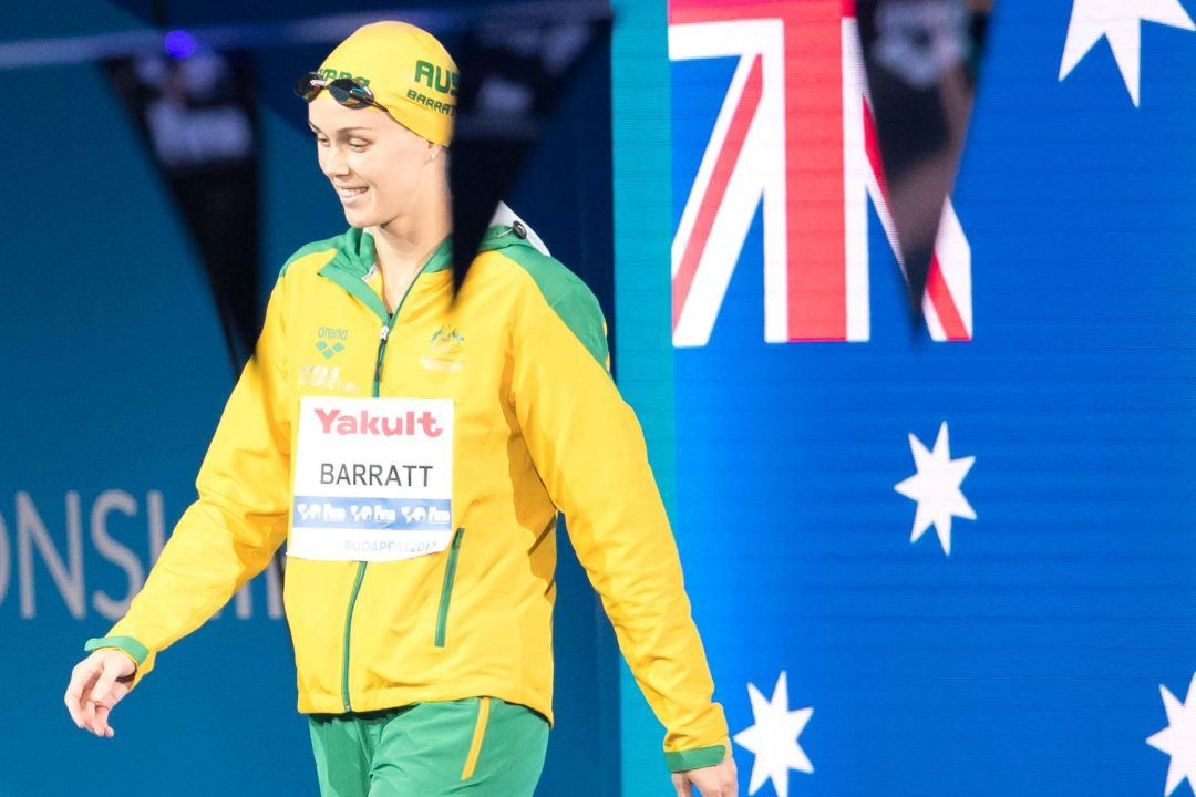 Holly Barratt Named Western Australia's Swimmer Of The Year