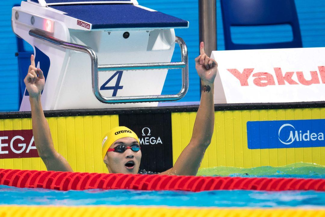 Xu Jiayu Clocks 1:53.99 To Break Own Chinese Record In Men's 200 Back