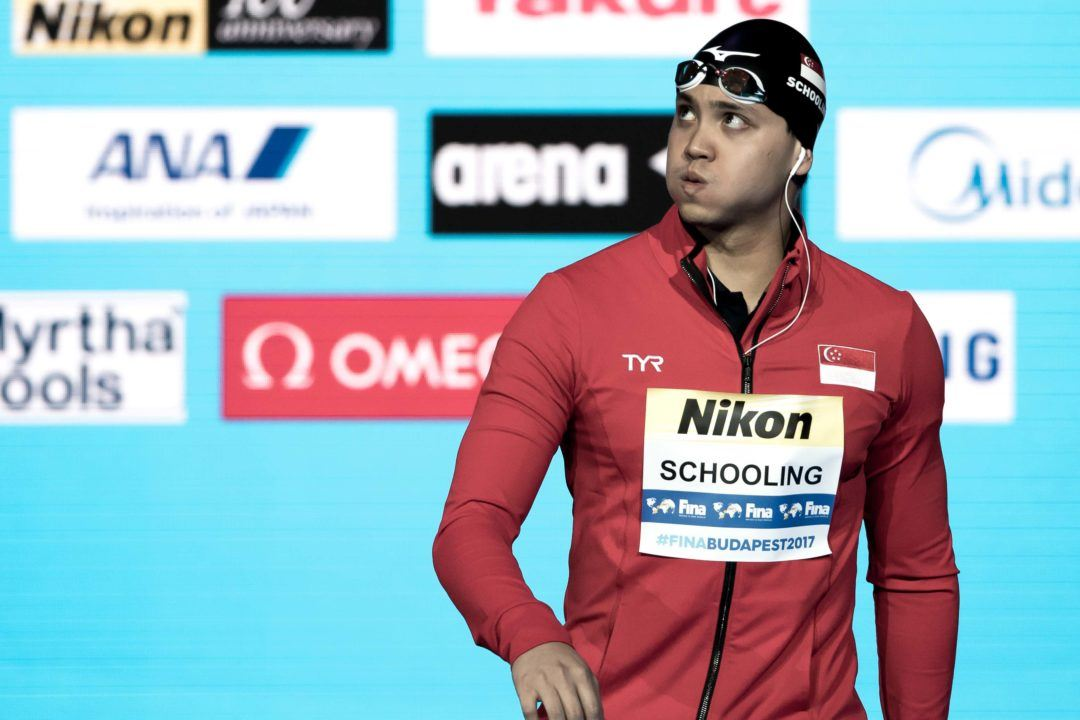Schooling Opts Out Of 200 Fly For 2018 Asian Games