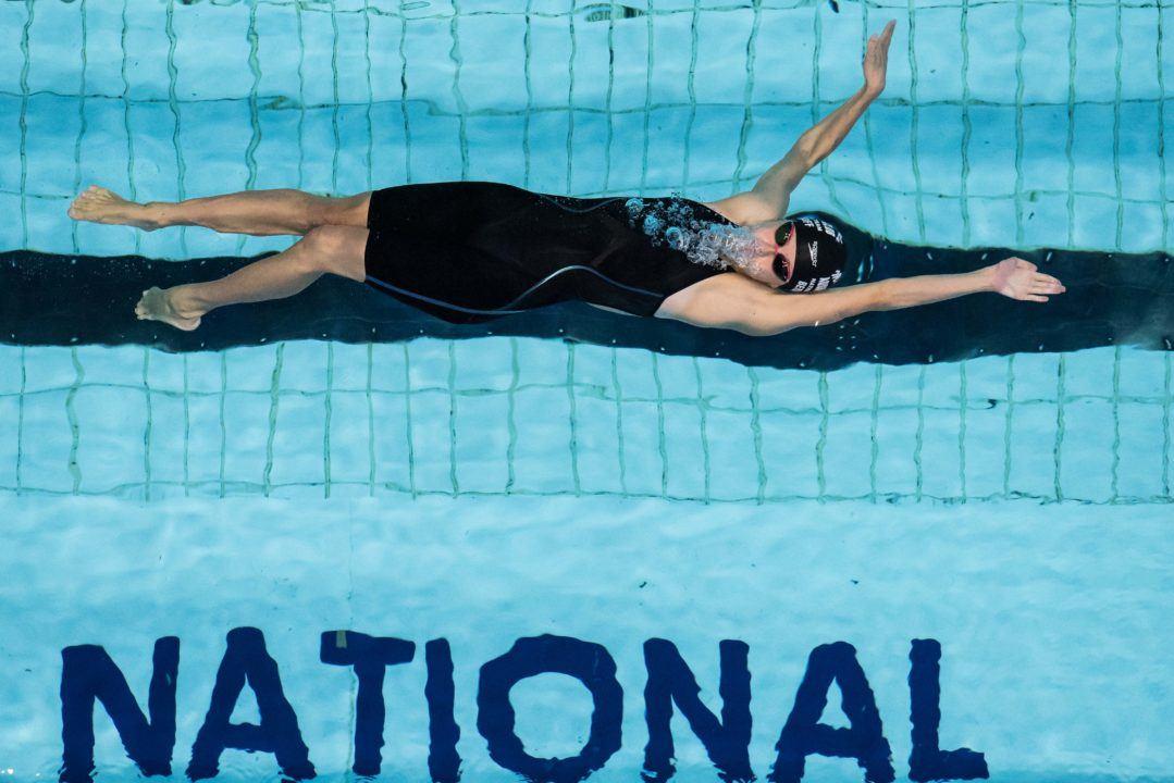 Katharine Berkoff Breaks Bartholomew's 100 Back ACC Meet Record: 50.56