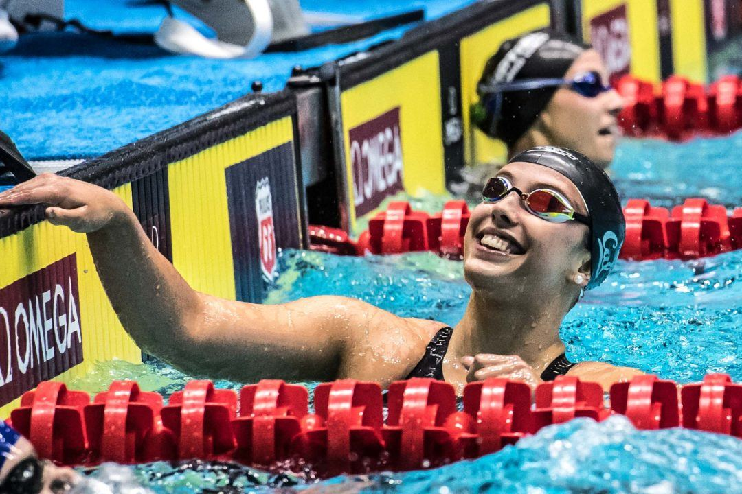 2018 Women's Pac-12s Day 1 Recap: Cal Just .03 Shy of 200 MR NCAA Record