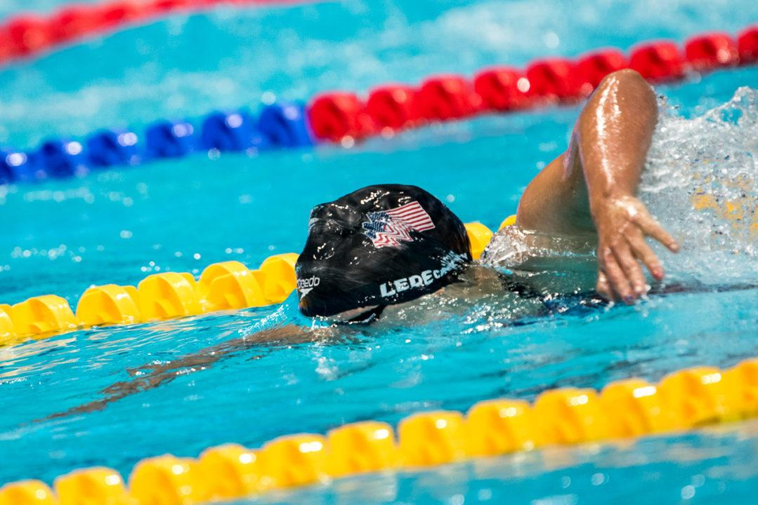 WATCH: Katie Ledecky Remains Undefeated, Three-Peats In 400 Free