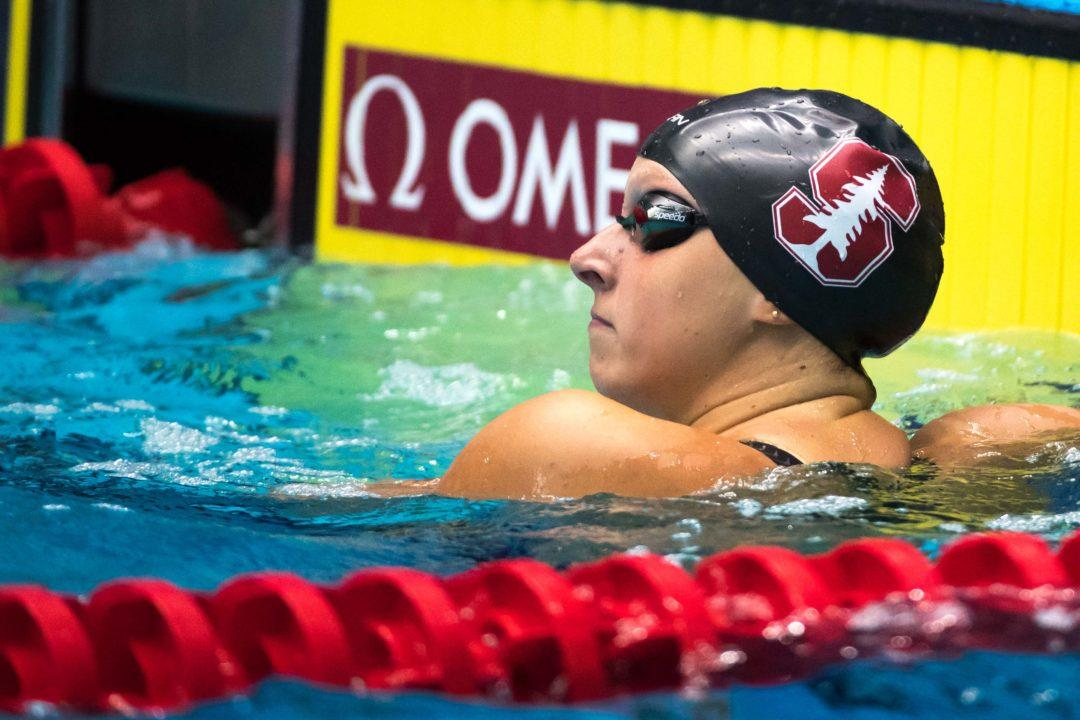 Katie Ledecky Named Pac-12 Women's Swimmer Of The Week