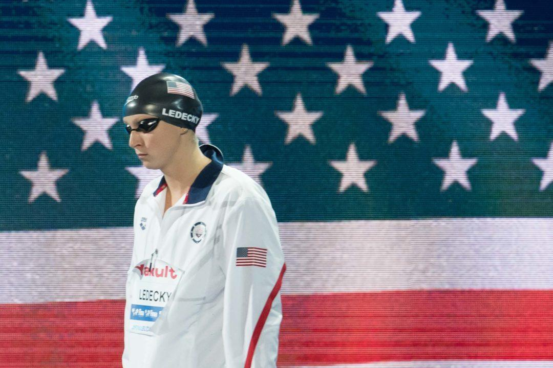 Katie Ledecky Ties Missy Franklin with 11th LC World Championship