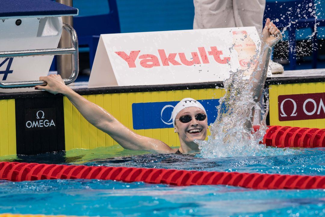 Kelsi Worrell Clips Torres' American Record with 25.4 in 50 Fly Final