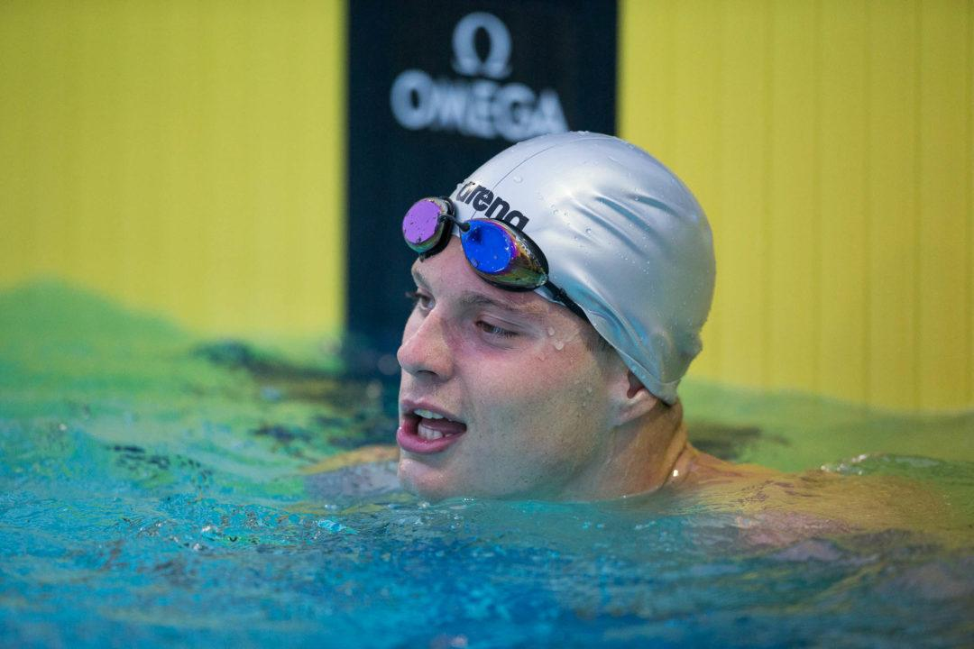 Matthew Klotz Breaks Deaf Swimming World Record in 100 Back