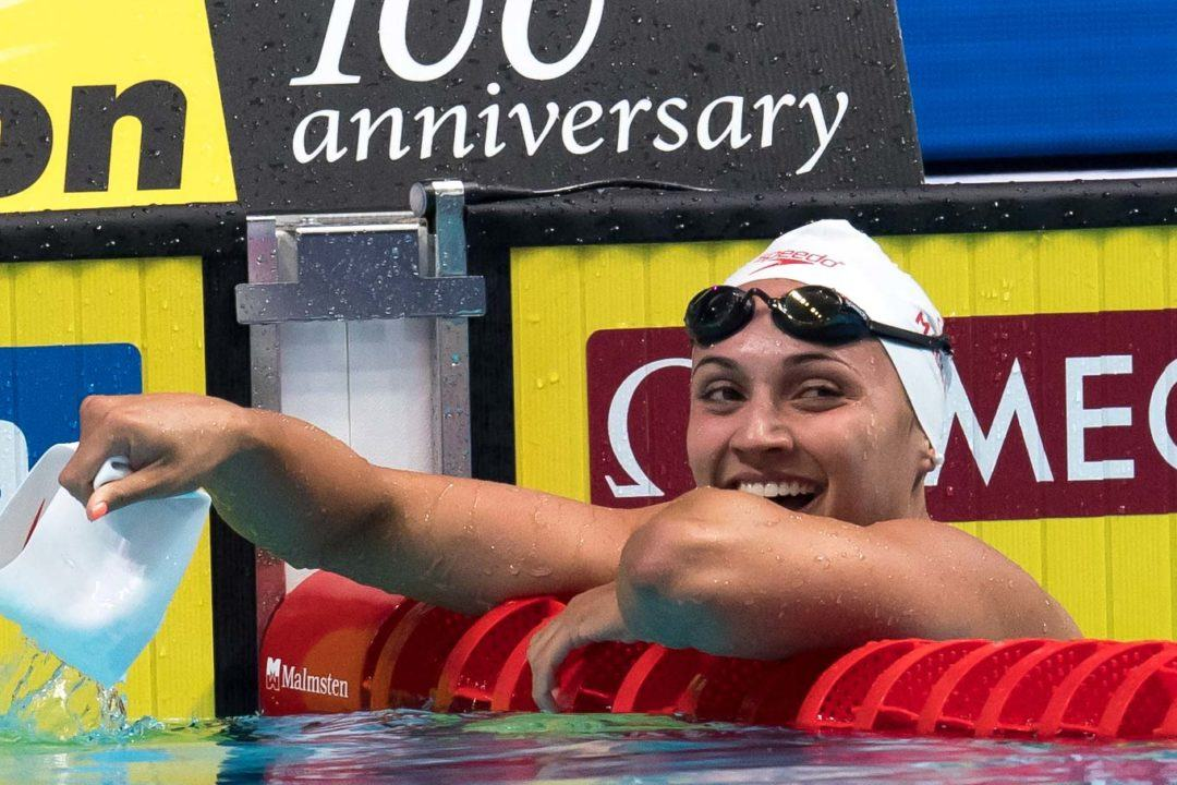 Kylie Masse Breaks Canadian Record By Full Second in 200 Back Semis