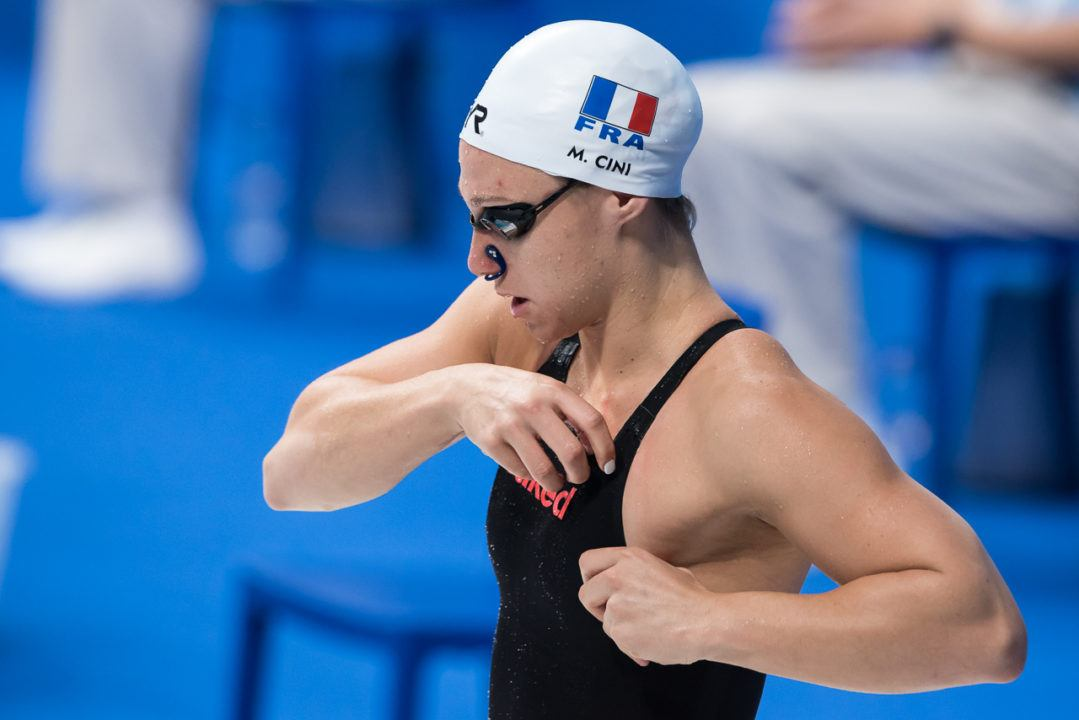 Mathilde Cini Scratches 100 Free Final on Day 5 of French Nationals