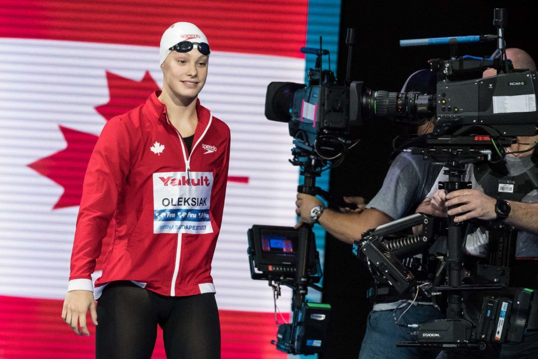 Penny Oleksiak To Join Gators At Mel Zajac Jr. International