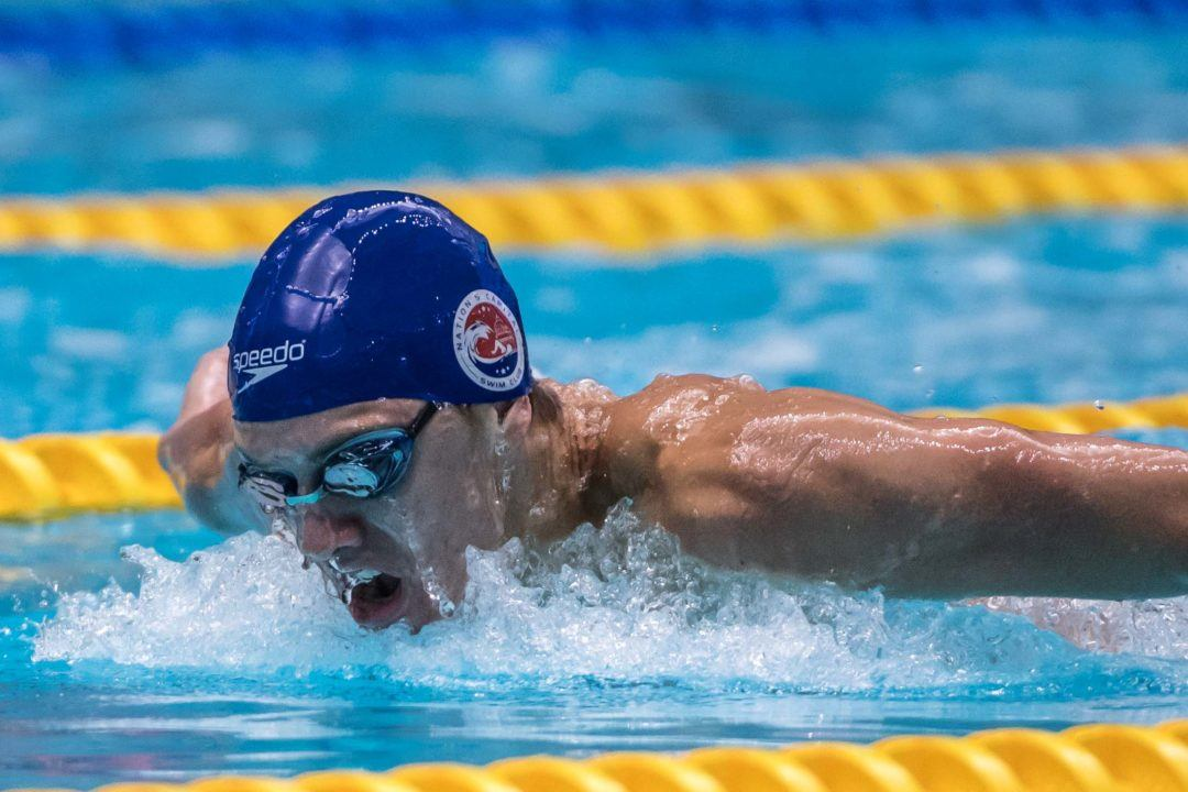 Sam Pomajevich Conquers Eddie Reese's Famous 20×50 Fly (Video)