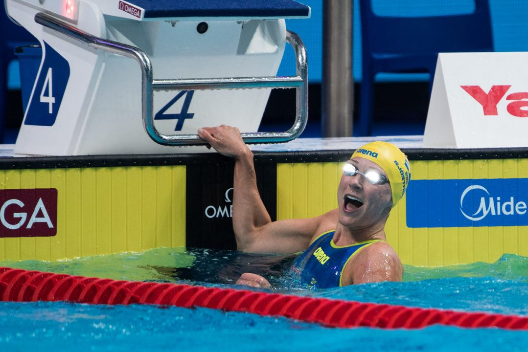 Sjostrom Fires Off 23.78 50 Free Scorcher To Hold 3 Of 5 Top Swims Ever