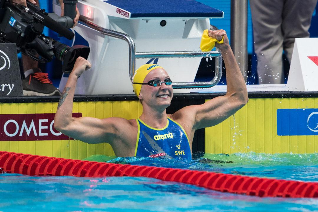 Sarah Sjostrom, Chad Le Clos Win 2017 World Cup Titles