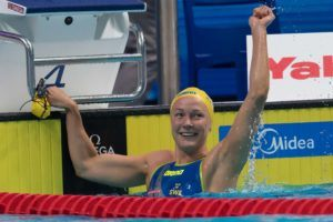 Another Day, Another World Record For Sweden's Sarah Sjostrom (100 Fr)