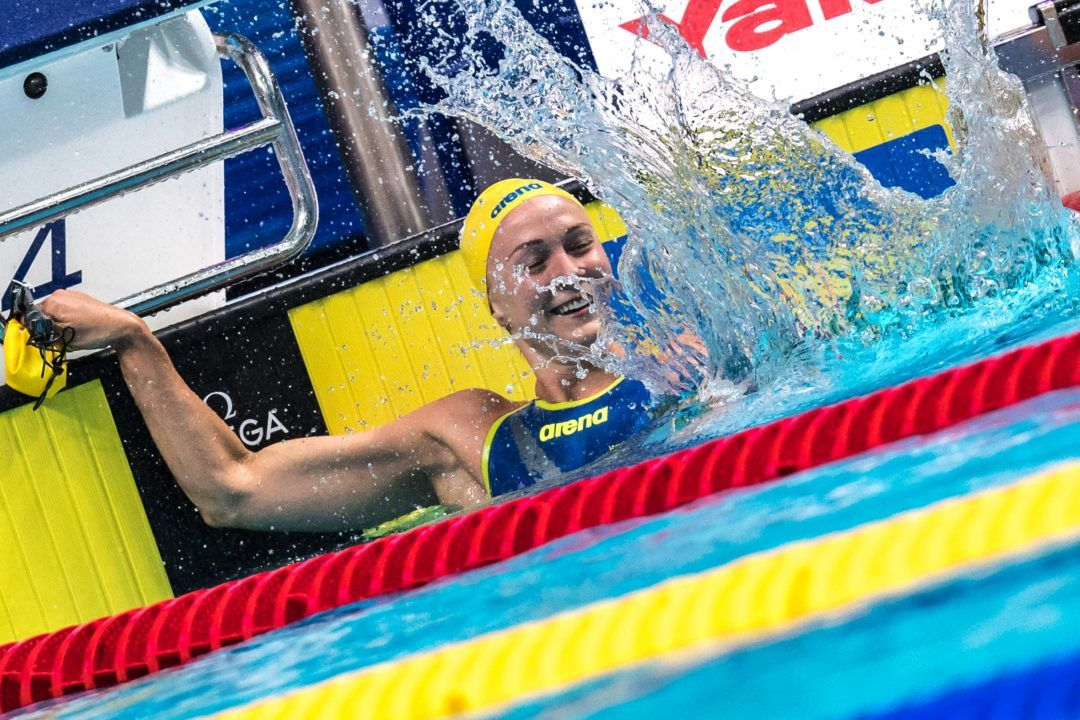 World Cup Singapore Day 1 Finals: Sjostrom Overtakes Hosszu In 100 IM