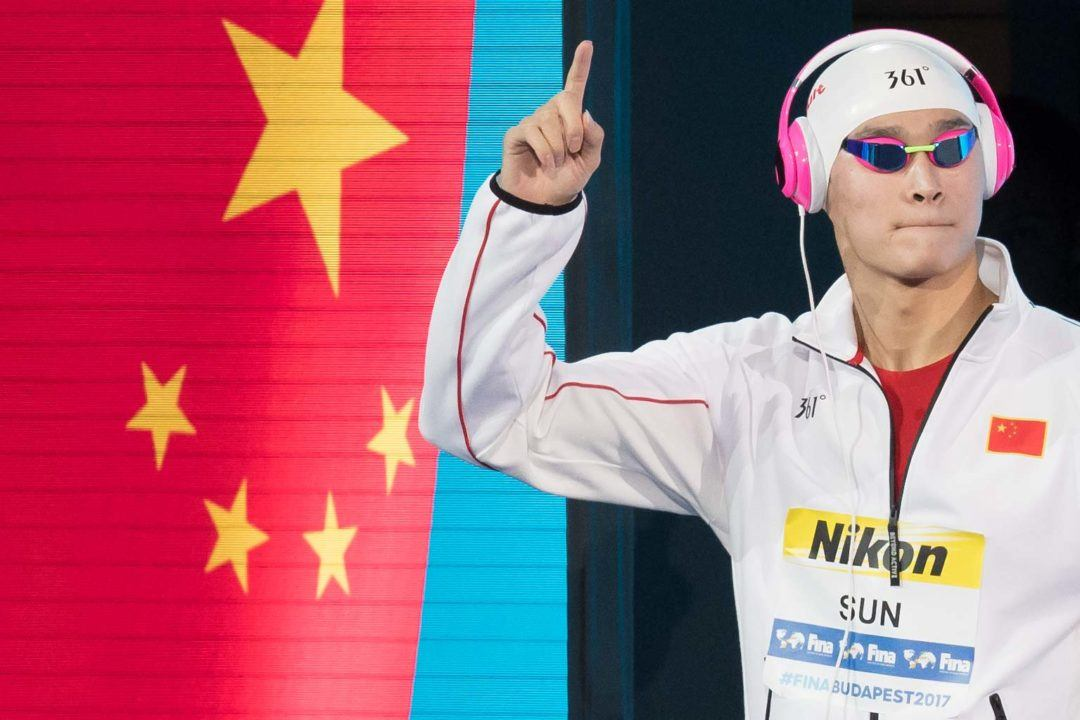 World Record Holder Sun Yang No-Shows 1500 Free at Worlds