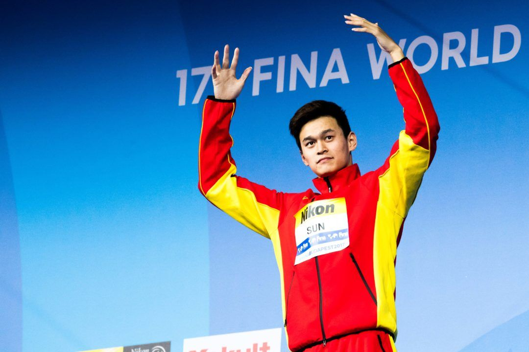 2017 Nat'l Games Of China: Sun Yang Closes With 4th Individual Win