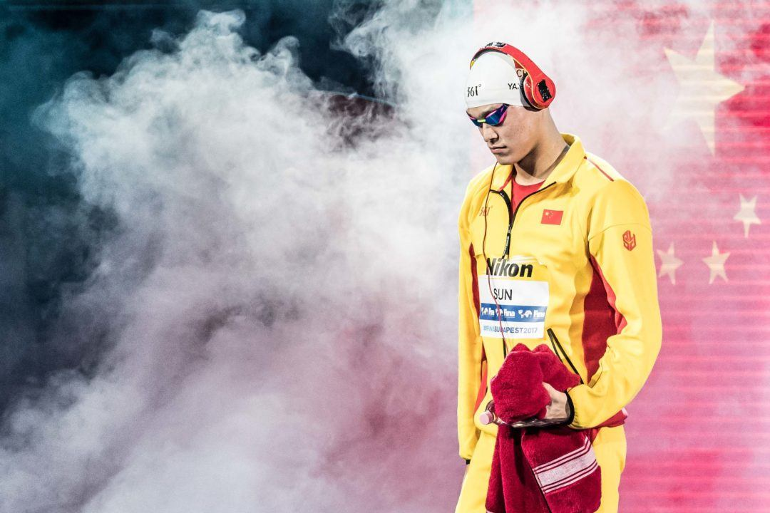 Sun Yang Lowers Asian Record For First 200 Free World Title
