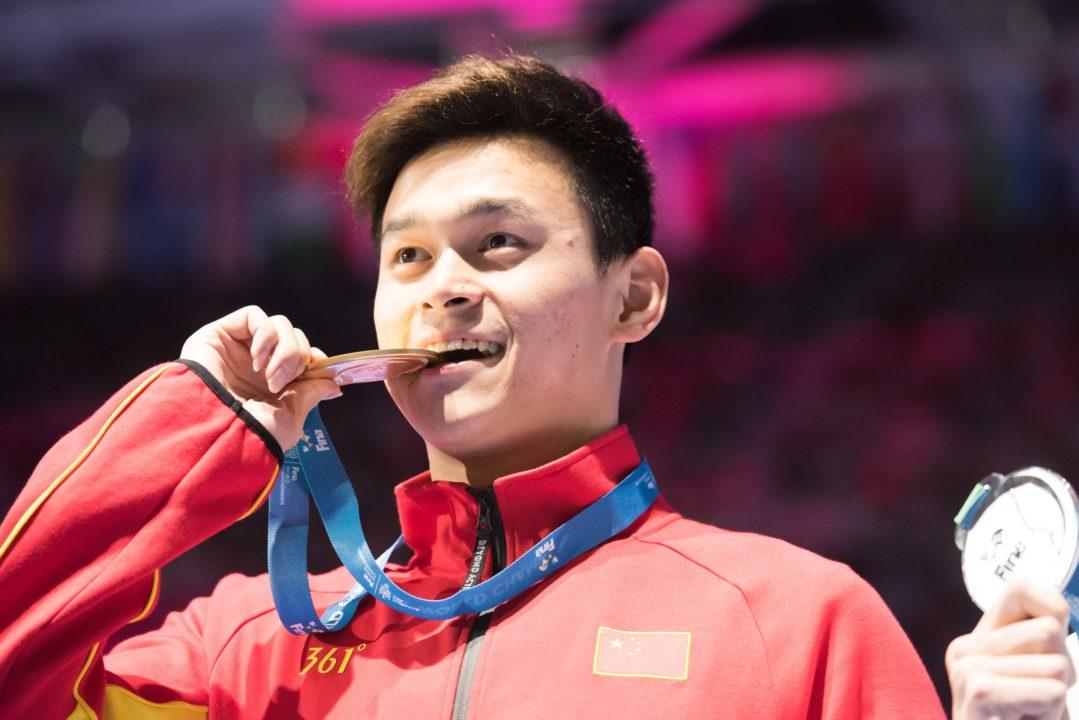 Chinese Team Releases Statement On Sun Yang's 1500 Withdrawal