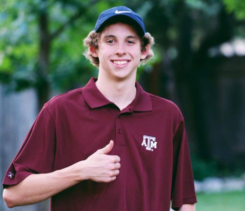 Aggies Pick Up Another 2018 Verbal: In-state Backstroker Ethan Gogulski