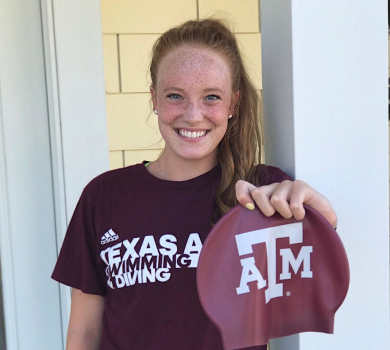 Nebraska 200 IM State Champion Caroline Theil Gives Verbal to Texas A&M