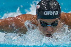 Tomás Peribonio completa el cupo de 32 nadadores para los Cali Condors