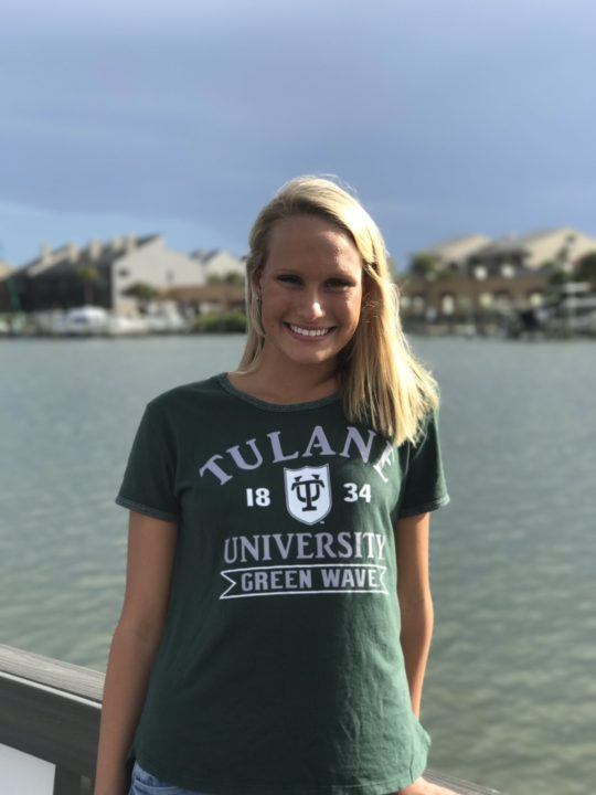 Florida Distance Freestyler Noa Heron Verbally Commits to Tulane