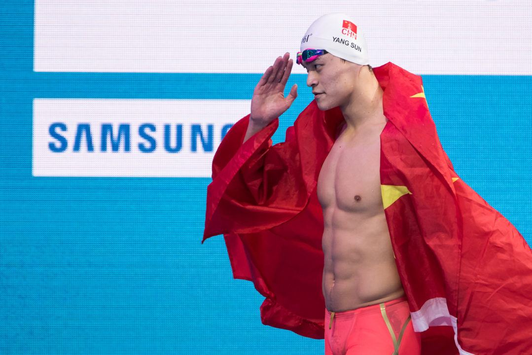 FINA Awards Sun Yang With 'Swimming Popularity' Award