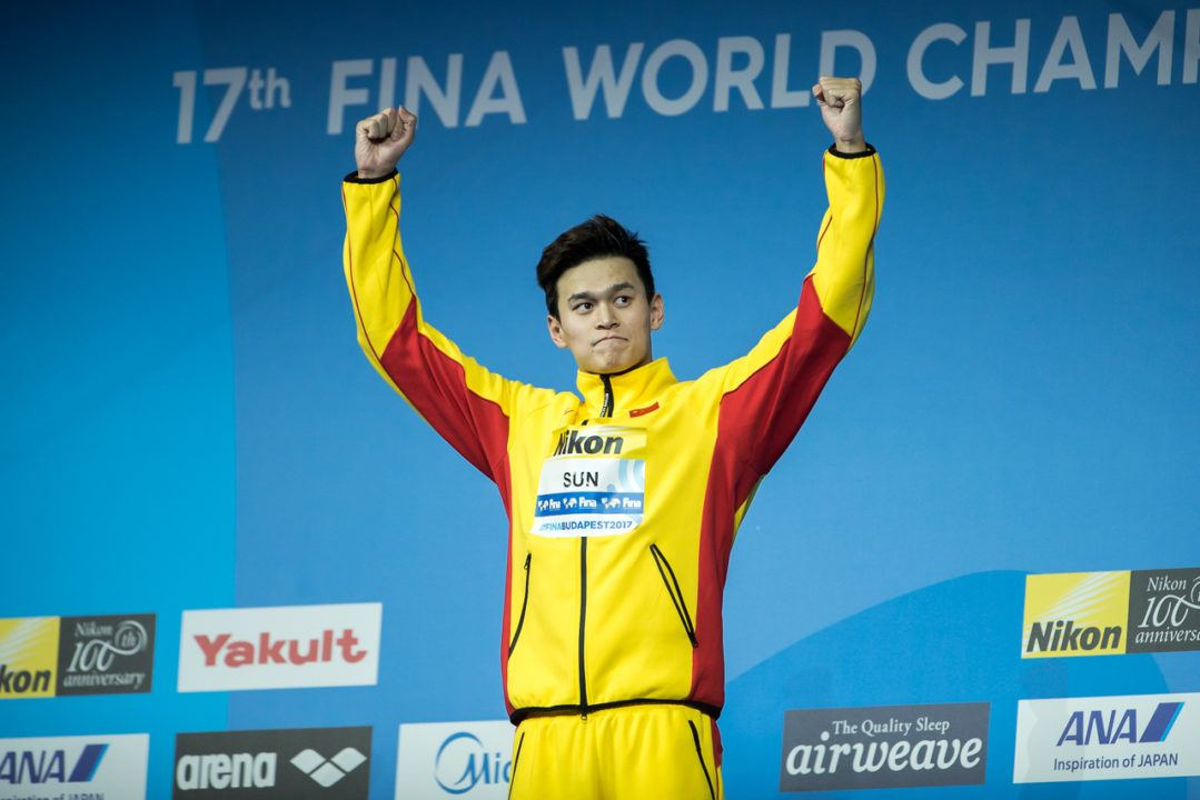 Sun Yang Fueled By SC World Championships Relay Bronze