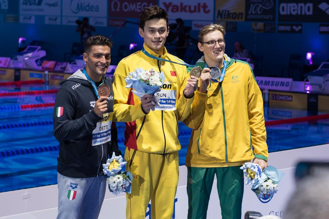 Sun Yang devance Mack Horton sur un air de revanche