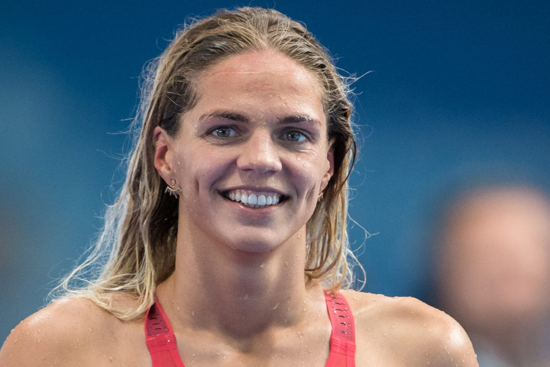 Efimova moved up to World #1 in 100m breaststroke, Canet-en-Roussillon