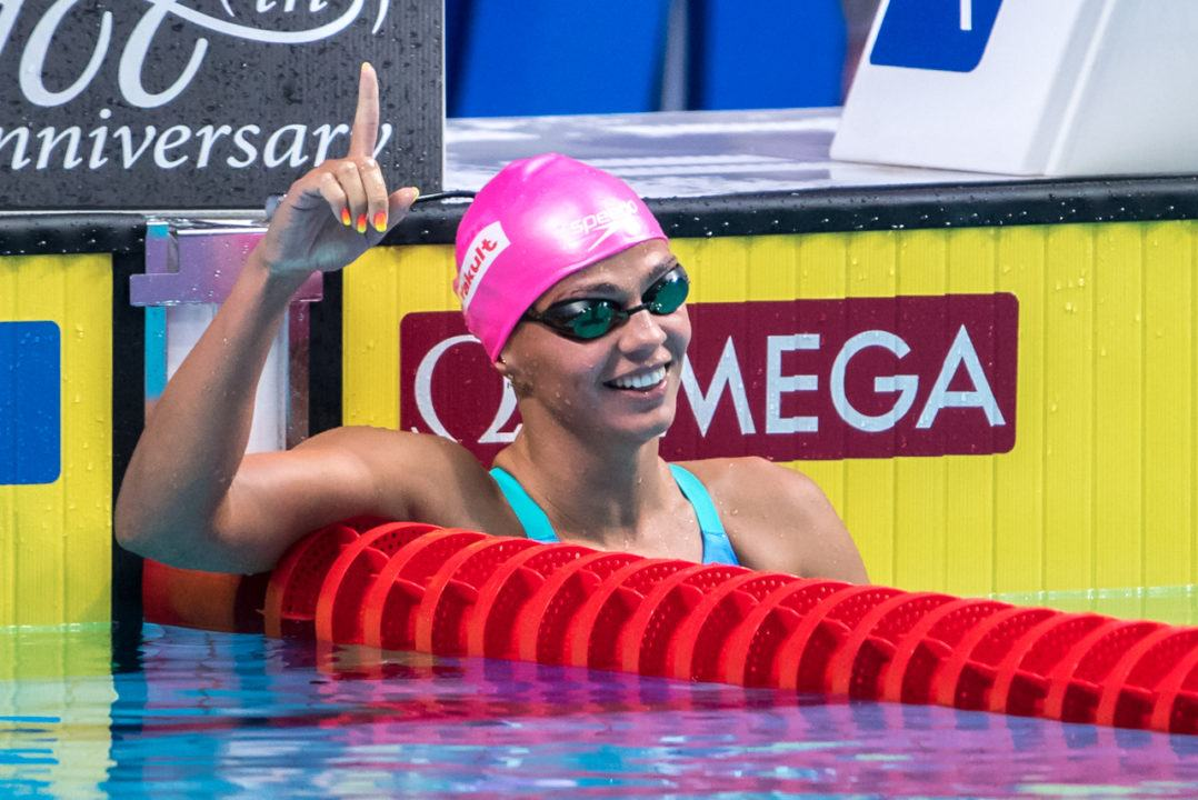 Watch: Efimova Blasts 2:19 to Win Women's 200 Breast Gold in Budapest (Race Video)