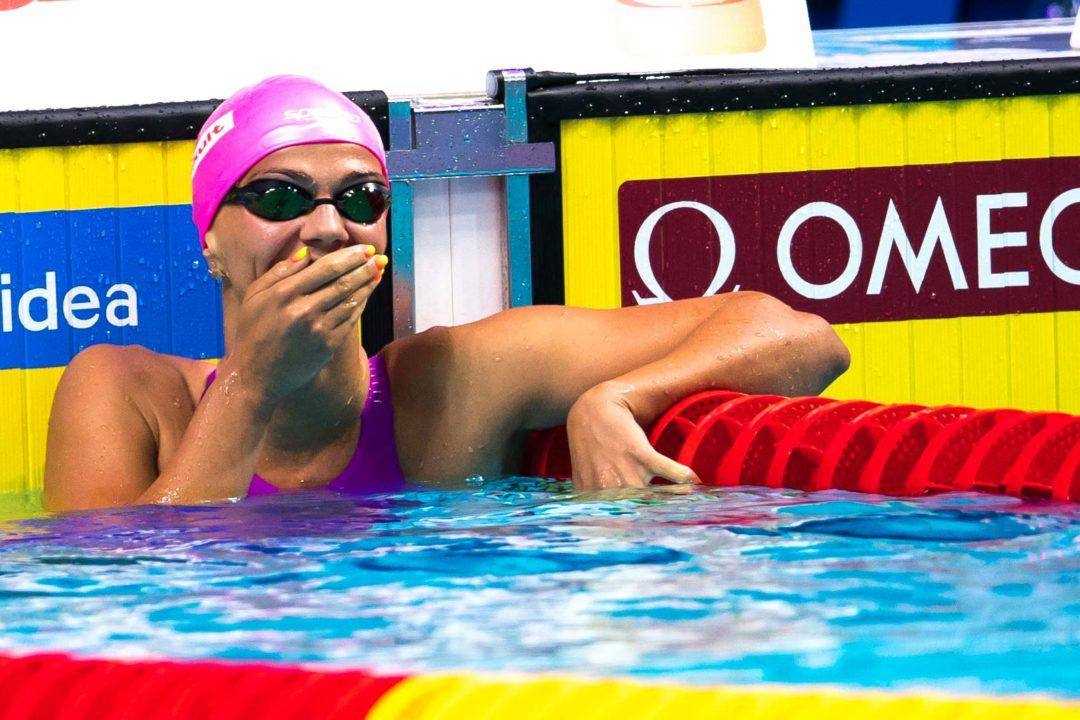 Efimova Splits 1:03.9 As Russia Breaks Meet Record In 400 Medley Relay