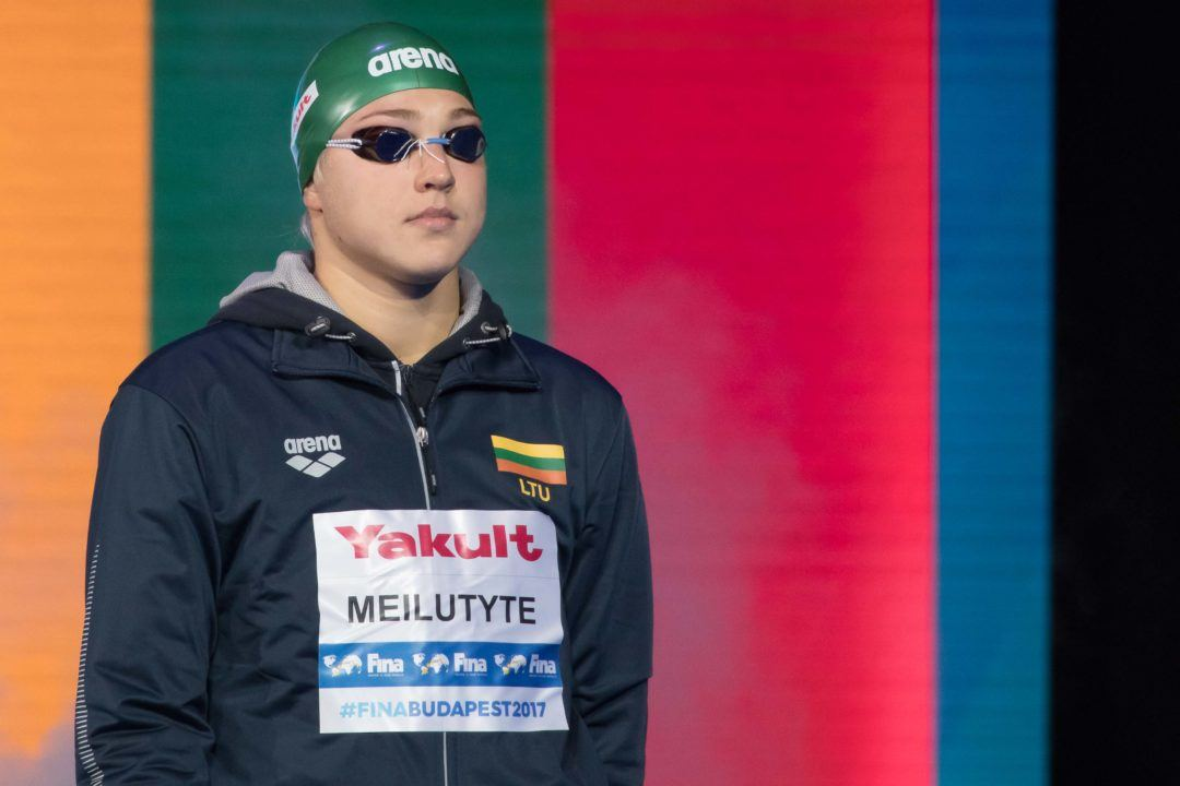 "Ruta Meilutyte Took a ""Leave from Swimming"" After Short Course Worlds"