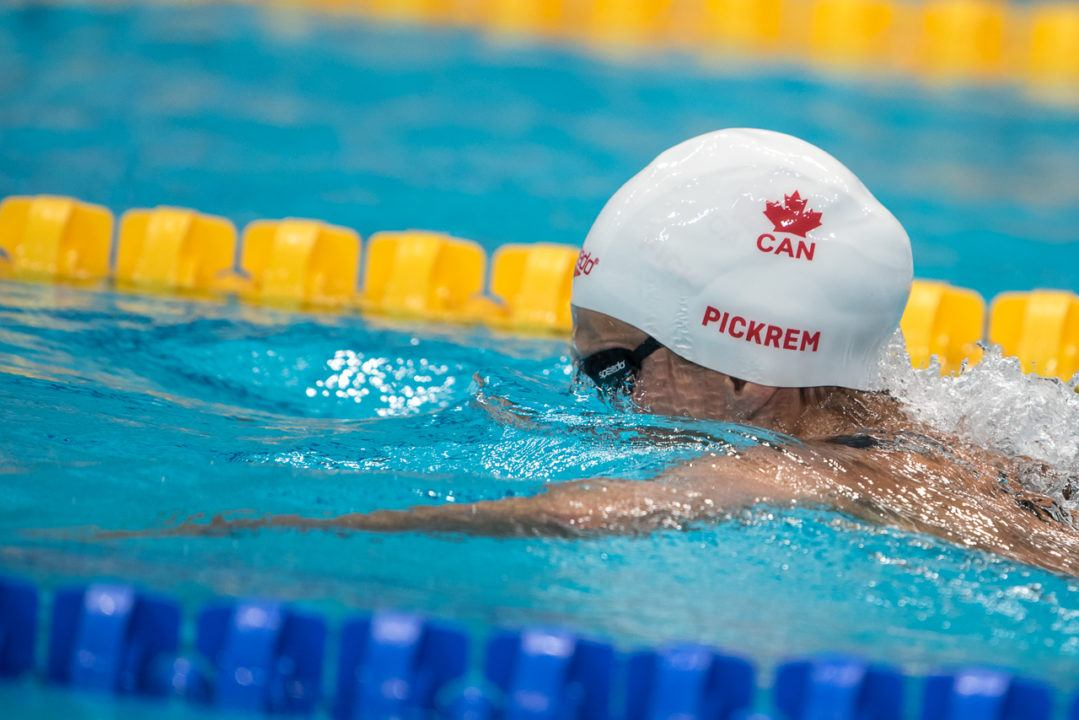 Pickrem's 2:24 200 Breast Highlights Day 1 of Canadian Nationals