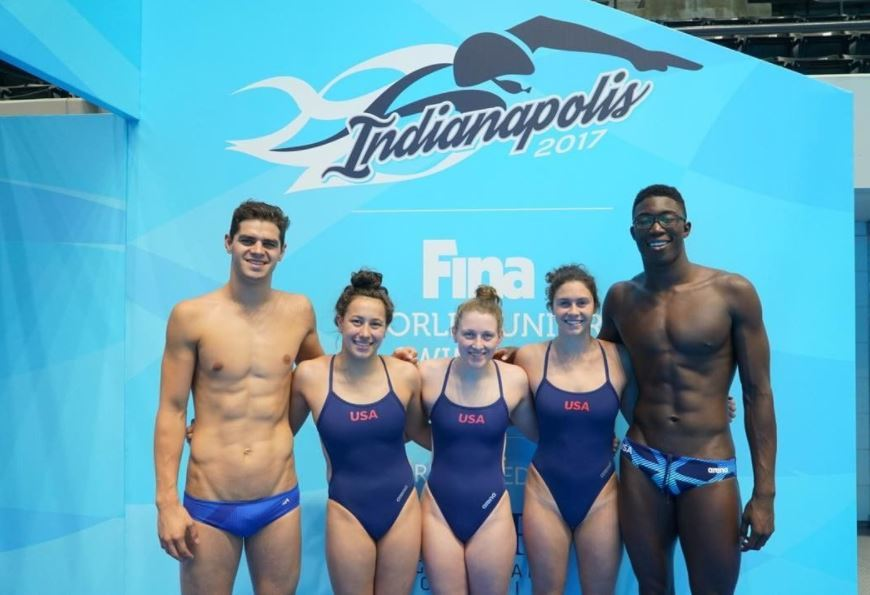Andrew, Ariola, Homovich, Sullivan, Whitley Will Captain Team USA at FINA World Juniors
