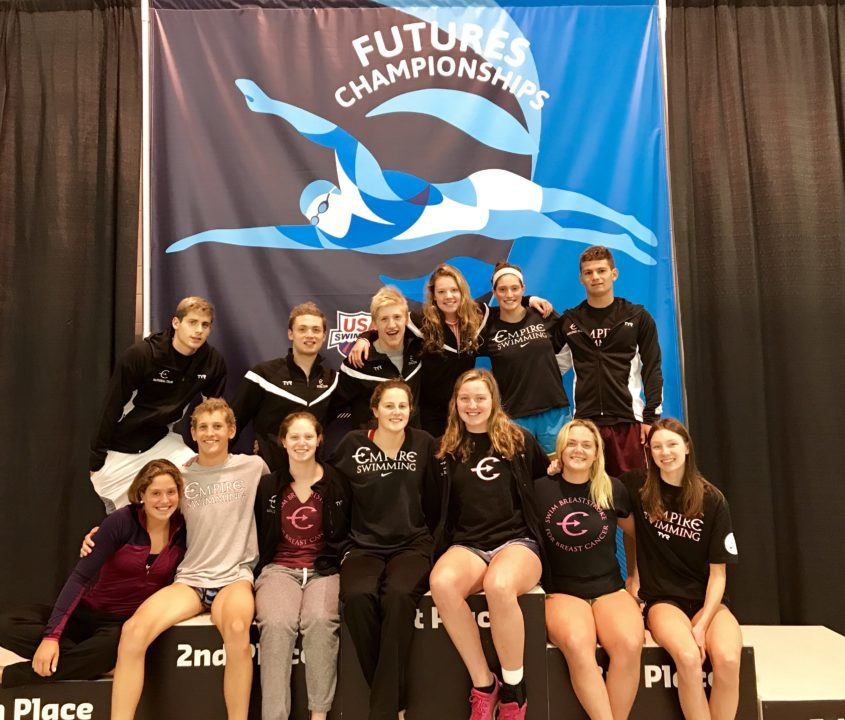 Empire Swimming Wins Women's, Combined Team Titles at Geneva Futures
