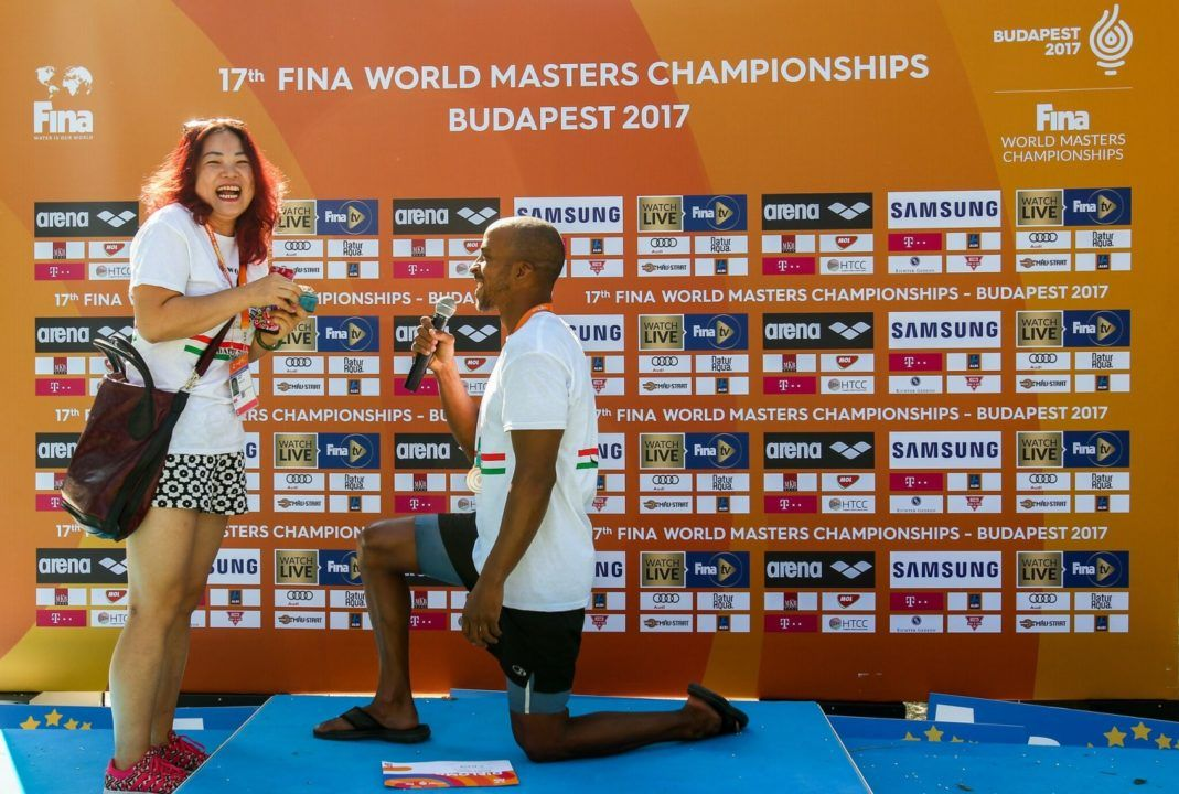 US Masters National Champion Proposes on the Podium at Worlds