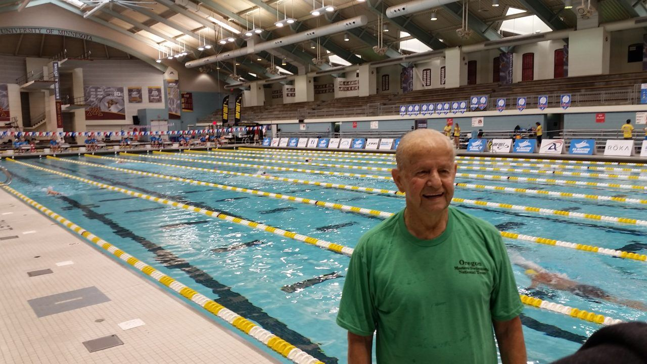 95-year old sweeps Freestyle records en route to 1500 World Record