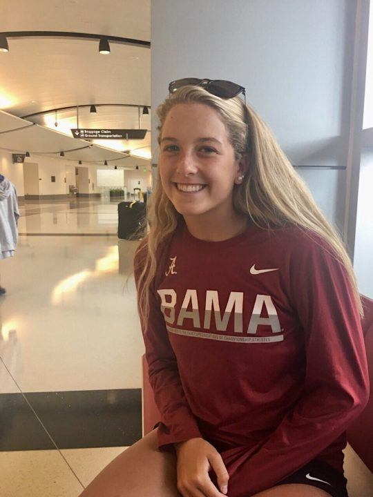 Back/Fly Specialist Morgan Liberto Verbally Commits to 'Bama